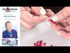 How to Make a Right Angle Weave - YouTube