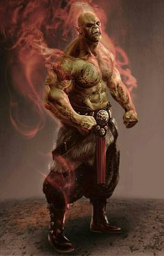 Male Orc Druid - Pathfinder PFRPG DND D&D d20 fantasy
