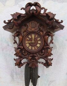 Antique Black Forest Cuckoo Clock, BEAutiful, Wrks, NR, LOOK!!! | eBay