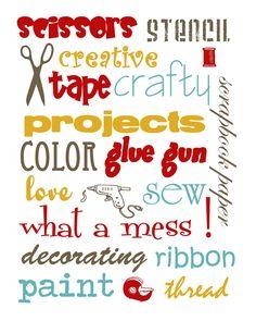FREE printable Craft Room wall art