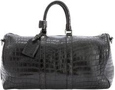 Keepall crocodile weekend bag