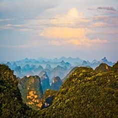 Moon Mountain, Guangxi, #China #p&ocruisetips