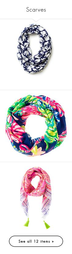 """""""Scarves"""" by kat-prepster ❤ liked on Polyvore featuring accessories, scarves, lilly pulitzer, infinity loop scarves, print scarves, loop scarves, patterned scarves, circle scarves, round scarves and lilly pulitzer scarves"""