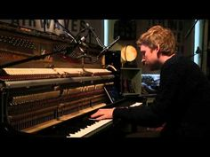 Ólafur Arnalds - Full Performance (Live on KEXP) - YouTube This man is making some of the most gut-wrenchingly beautiful music I have likely ever heard...You have to get about 4 minutes into the video to start to hear any of the music...but even as I lay here listening to it, in the small hours of the morning, when I should be fast asleep...I am wide awake...mesmerized by the beauty emanating from this trio...enjoy!