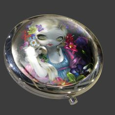 Flora Compact Mirror | Art by Jasmine Becket-Griffith