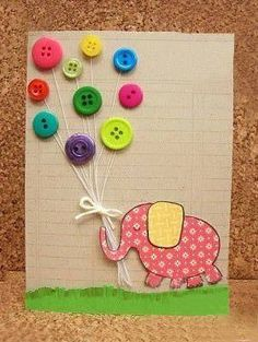 Botton ideas button ballon elephant!