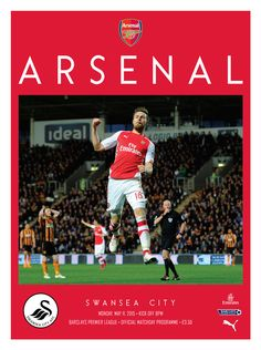 v Swansea. May 11, 2015. The official Arsenal Matchday programme.