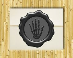 Skeleton Hand Bones Wax Seal Stamp