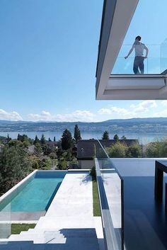 10 Best :: Lake Houses | Camille Styles - This uber-contemporary home overlooking Lake Zurich sets the standard for modern lakeside architecture.