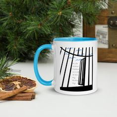 A Life Without Freedom Mug with Color Inside - Blue