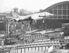 First jump jet to land in a city, in a coal yard in Somers Town. I saw it.