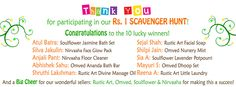 Winners of our Rs. 1 Scavenger Hunt!