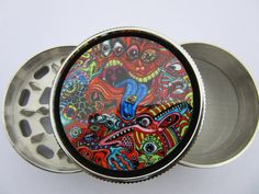 TOOLS FOR 420 || EPICOSMIC || Psychedelic Herb Grinder by MyRollingTray (Etsy.com)