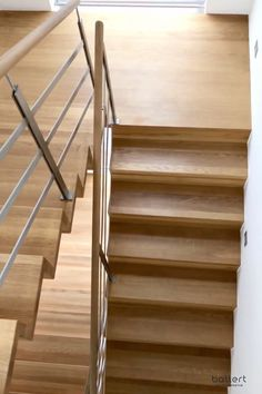 Faltwerktreppe The folding staircase - a straightforward form, which is redu Modern Stair Railing, Staircase Railings, Wood Stairs, House Stairs, Stairs For Home, Staircase For Small Spaces, Stairs To Attic, Stair Railing Design, Stairs In Living Room