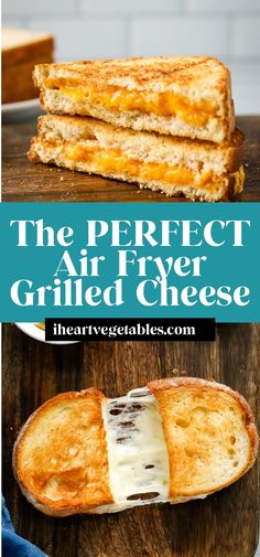Making grilled cheese in an air fryer is the best way to get a crispy exterior with gooey, melty cheese inside! Here's how to get a perfect sandwich every time! Air Fryer Recipes Vegan, Air Fry Recipes, Air Fryer Dinner Recipes, Vegetarian Recipes Easy, Grilling Recipes, Wrap Recipes For Lunch, Great Recipes, Making Grilled Cheese, Delicious Sandwiches