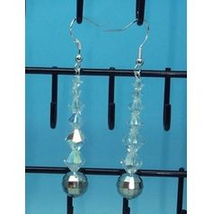 Hand Crafted Swarovski Crystal Sterling Silver Earrings