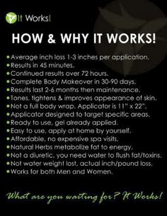 Wondering how why this product works? Thinking it's just water weight? Think again! Text me 5202409827 It Works Wraps, My It Works, It Works Global, Have You Tried, Just For You, It Works Distributor, Independent Distributor, Ultimate Body Applicator, Body Makeover