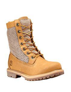 Chaussures | Bottes | Bottes Authentics avec incrustation tissée ajourée | La Baie D'Hudson