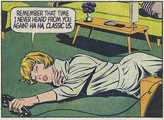 "19 Depressingly Relatable Relationship Comics That Are Too On Point - Funny memes that ""GET IT"" and want you to too. Get the latest funniest memes and keep up what is going on in the meme-o-sphere. Marvel Girls, Comics Girls, Romance Comics, Roy Lichtenstein, Comic Books Art, Comic Art, Book Art, Pop Art Vintage, Vintage Romance"