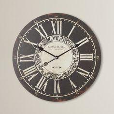 "One Allium Way Brooks Oversized 23.25"" Hotel Wall Clock"