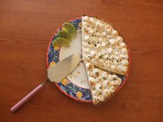 Ginger and mint American lime pie #ginger #mint #lime #pie #recipe