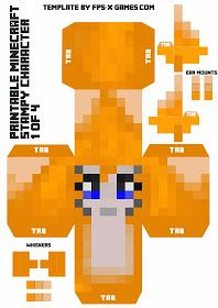 Large Minecraft Printable Stampy Character 1 of 4