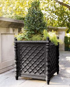Square Black Planter at Neiman Marcus.