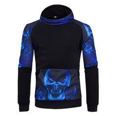 Modest Hipster Mens 3d Hoodies Skulls Skeleton 3d Print Hip Hop Streetwear Long Sleeve Pullovers Male Black Sweatshirts Tracksuits 5xl Hoodies & Sweatshirts