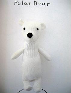 Polar bear glove teddy