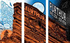 Furthur - Red Rocks 2012 Poster Set - Artist: John Warner