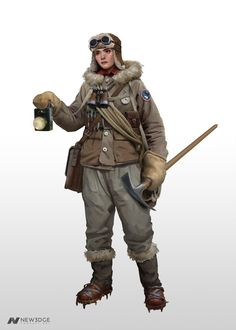 ArtStation - Suzanne - The Fault, Oscar Bagalini Character Inspiration, Character Design, Dieselpunk, Arctic, Game Art, Steampunk, Artwork, Characters, Pictures