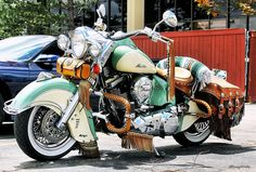 Vintage Motorcycles one great Indian Indian Motorbike, Vintage Indian Motorcycles, Vintage Bikes, Motorcycle Paint Jobs, Bobber Motorcycle, Cool Motorcycles, Triumph Motorcycles, Girl Motorcycle, Motorcycle Quotes
