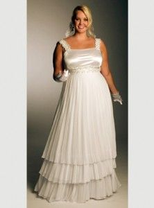silver full figured wedding dresses