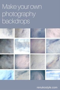 Make your own photography backdrops - renukostyle.com