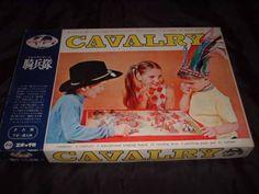 Unused CAVALRY Game Western Chess Vintage Board Game Epoch Japan 773 #Epoch