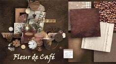 kit Fleur de Café by Lea&Ugo Scrap http://scrapbird.com/leaugoscrap-m-144.html
