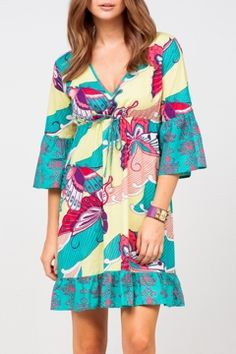 Firefly Tyra Butterfly Cotton Dress bold and birght .. just perfect to welcome sping