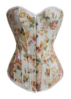 Floral Fantasy Burlesque Corset with yellow and green flowers with front busk closure, lace-up back and matching thong Dress Size (inch) Size Bust(cm) Waist(cm) Hips(cm) Small 81-86 58-64 86-91 Medium 86-94 64-71 91-99 Large 99-102 71-79 99-104 XL 99-107 79-86 104-112 XXL 107-117 87-94 112-119 XXXL 117-122 94-102 119-127 one size 86-102 58-79 90-104 How to Measure BUST Measure under your arms, around the fullest part of your bust. WAIST Measure around your natural waistline, being the…