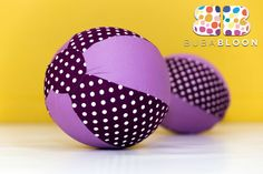 Dots & Spots Purple Fabric Balloon Cover from BUBABLOON®