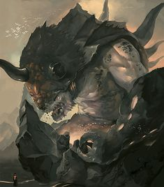 Moro the Magma Eater, the de-facto King of the Ogres, a monolith of a being that is said to live since the earliest age