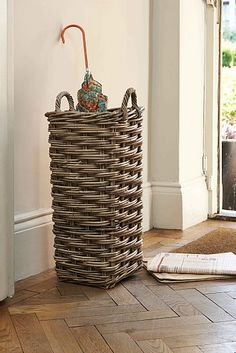 Fab storage for umbrellas, hockey sticks and looks great!