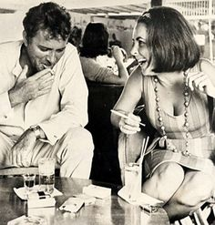 Elizabeth Taylor and Richard Burton ... I want to get this printed on a canvas for my bedroom.