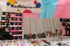 my booth, Edgewater Mall, Biloxi by MissMalaprop, via Flickr  #display #ideas #craft #shows #market #jewelry #craft #stall #markets #handmade