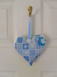 Hanging Heart Lavender Bag  BABY SLEEP AID by Fabrilushus on Etsy, £8.00