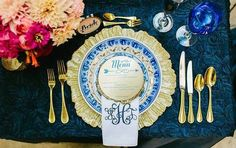 Nautical Themed Tabletop Tuesday // Rentals // POSH Couture Rentals  Planning and Design // Jacqueline Events  Photography // The Tarnos Photography  Linens // BBJ  Stationery // Paper Planet  Venue // Omni Mandalay Hotel  Floral // Lush Couture Floral  Dresses // Bella Bridesmaid  Bicycle // Gold Dust VIntage