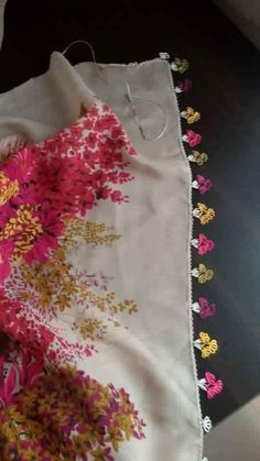 This Pin was discovered by Lal Embroidery Designs, Needlework, Apron, Tote Bag, Summer Dresses, Fashion, Towels, Tejidos, Flowers