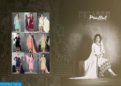 PRAFFUL PICASSO EXPORT STRAIGHT LONG SALWAR KAMEEZ Catalog pieces: 9 Full Catalog Price: 9855 Price Per piece: 1095 MOQ: Full catalog Shipping Time: 4-5 days Sizes: Semi Stich Fabrics Detail Top :-  Georgette on Elegant Embroidery  Bottom & inner :- santoon Dupatta :- nazneen #nicecollection  #goodmateriel  #awesomelook Call&Whatsapp;+917405434651 website link :-http://textiledeal.in/wholesale-product/4572/Prafful-picasso-Export-Straight-long-Salwar-kameez
