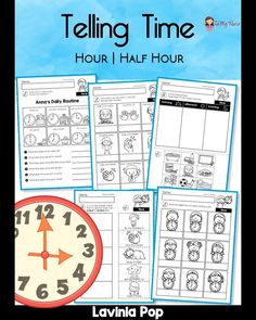 1st Grade Worksheets, Kindergarten Learning, Montessori Activities, Common Core Math, First Grade Math, Telling Time, New Tricks, About Me Blog, Thing 1