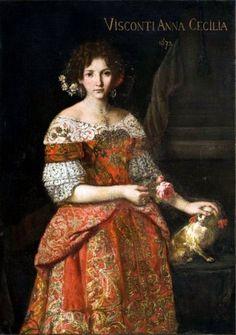 1672 Anna Cecilia Visconti by Carlo Ceresa (maniera di) From jeannedepompadour.blogspot.com:2012:03:hurluberlu-anna-maria-luisa-de