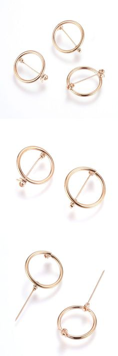 75ae12f2f Pin Backs and Brooch Components 150048: 20Pcs Rose Gold Brass Brooch  Setting Bezel Blanks Open